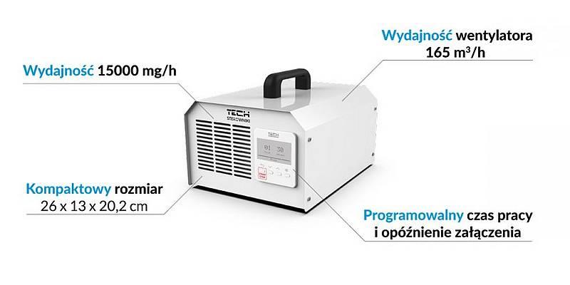 Ozonator wydajność 15000 mg/h