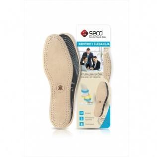 SECO Wkładki do butów ze skóry naturalnej r. 40