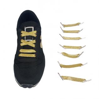 Elastyczne sznurówki materiałowe złote