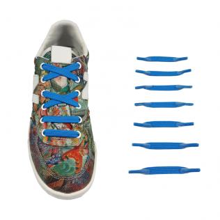 Elastyczne sznurówki materiałowe niebieskie