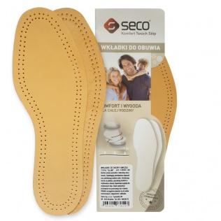 SECO Wkładki do butów slim ze skóry owczej r. 45