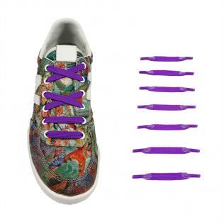 Elastyczne sznurówki materiałowe fioletowe